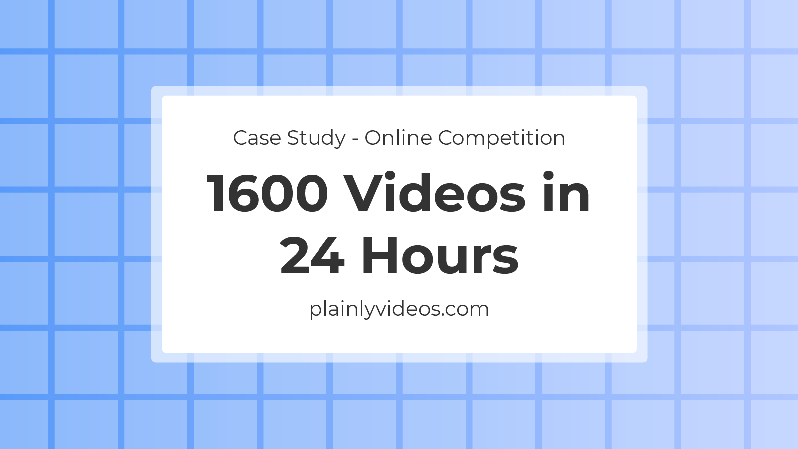 1600 Videos rendered in 24 hours – Case Study